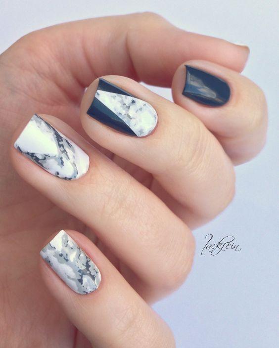stone nail art design