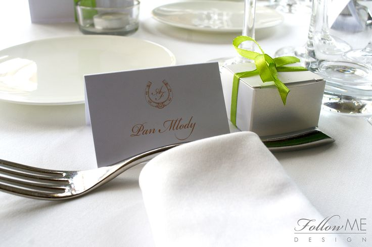 Winietki  / Podziękowanie dla gości / Eleganckie białe dekoracje ślubne od FollowMe DESIGN / Wedding Place Card / Wedding Favors / Elegant White Wedding Decorations & Details by FollowMe DESIGN