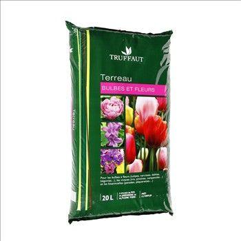 Terreau bulbes et fleurs : sac de 20 litres
