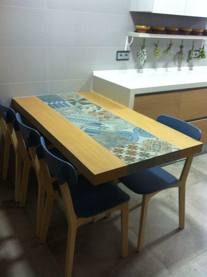39 melhores imagens de mesa cer mica no pinterest - Mesas de azulejos ...
