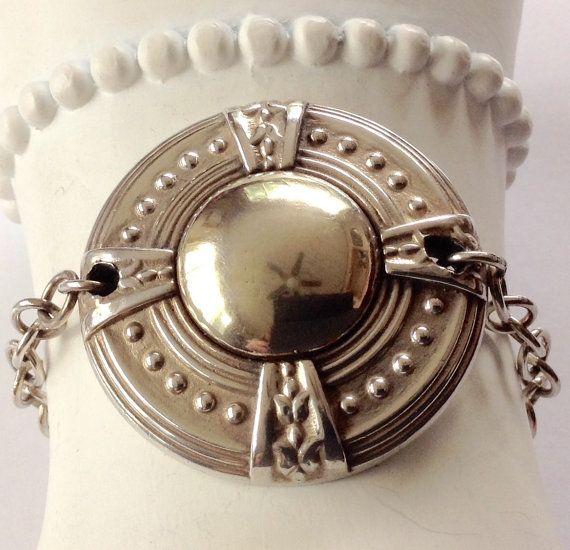 Medallion Bracelet Gold Medallion by KarynJamieDesigns on Etsy