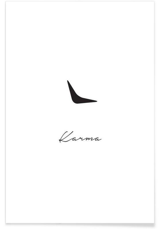 Karma en Affiche premium par Trabolt Design | JUNIQE