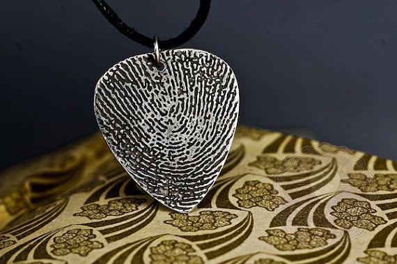 Fingerprint Jewelry   Fingerprint necklace for Dad  by AmulettaHu