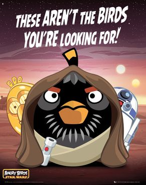 Angry Birds Star Wars Party Poster - Crafty Party