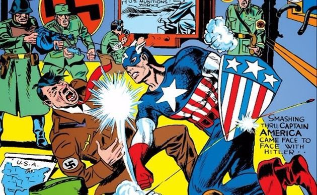 Comic Captain America Punching Hitler | Politics in Comics: Part 1 - A Brief History | Rachel McGill | BL | Black Lion Journal | Black Lion
