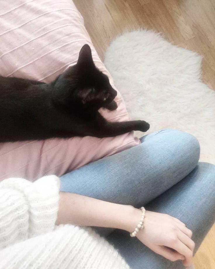 Wierzcie mi lub nie ale nie ma lepszych kotów od mojego. Przynajmniej dla mnie. I dla @poprostulukasz.media  #kotrebel #rebel #cat #catslover #catstagram #kotek #kot #czarnykot #kocham #love #catstagram #blackcat #thinkpink #igers #igerslondon #igerscat #instacat #blog #blogerka