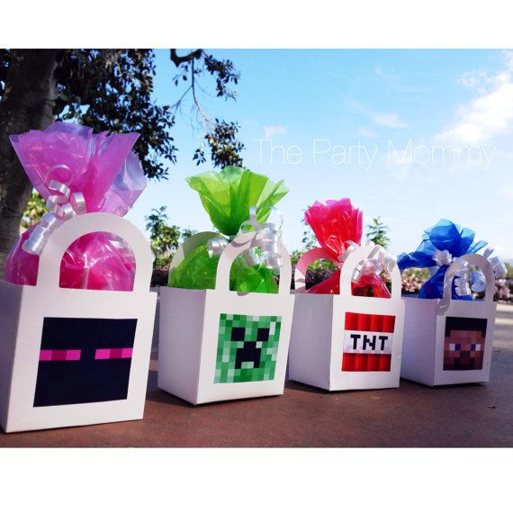 8 Minecraft Themed Birthday Party Favor Boxes By ThePartyMommyEtsy 2800