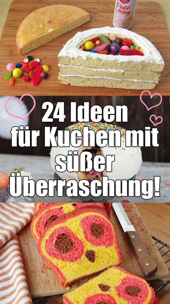 GENIALE IDEEN!!! Das sind mal WIRKLICH besondere Kuchenideen! :) (y) 3>  #recipe #cake #inspiration