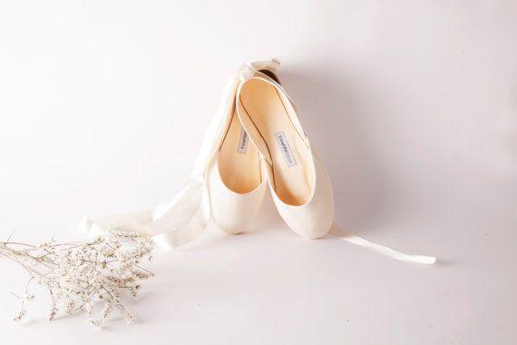 Ivory Bridal Ballet Flats