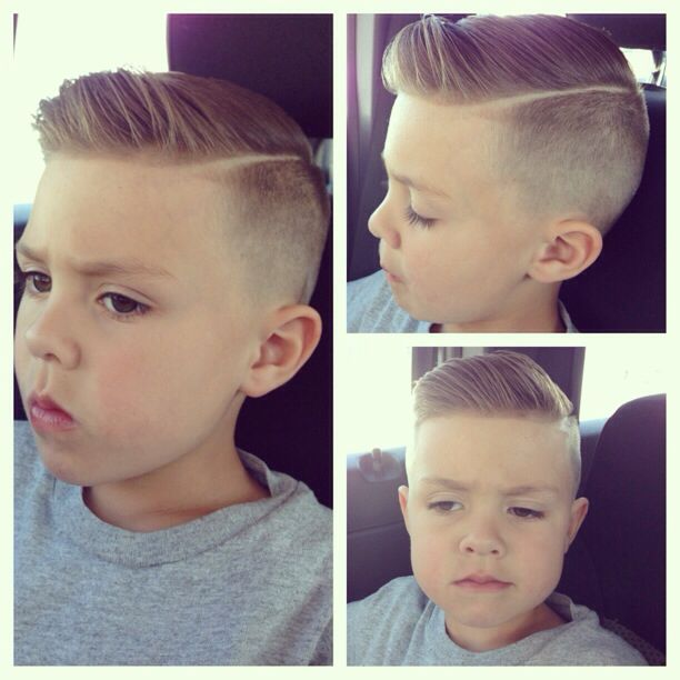 My little man edged up like a Gentlemen #mens hair