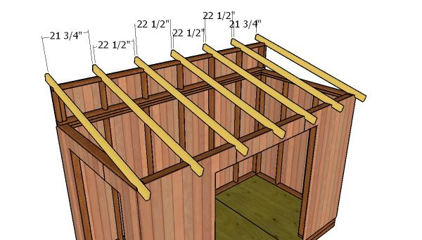 6 12 Lean To Shed Roof Free Diy Plans Shed Roof Design Roof