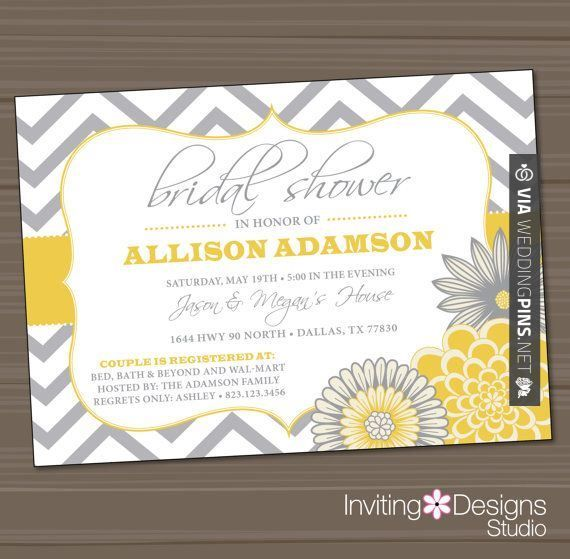 Sweet! - Wedding Motif 2015 - Printable Wedding Shower Invitation, Bridal Shower Invitation, Yellow, Gray on Etsy, $18.00 | CHECK OUT THESE OTHER AWESOME PICTURES OF NEW Wedding Motif 2015 AT WEDDINGPINS.NET | #weddingmotif2015 #weddingmotif #motifs #boda #weddings #weddinginvitations #vows #tradition #nontraditional #events #forweddings #iloveweddings #romance #beauty #planners #fashion #weddingphotos #weddingpictures