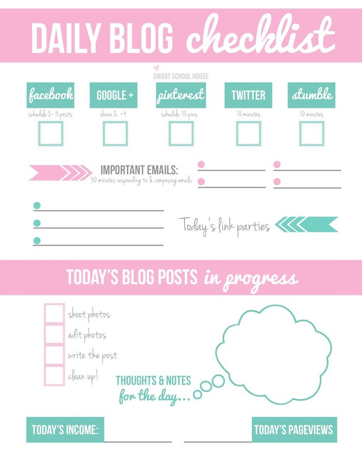 Tips on How to Make Money Blogging plus a FREE Daily Blog Checklist