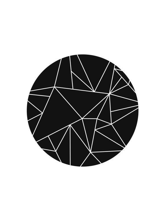 Circle Art Printable Art Black and White par MelindaWoodDesigns