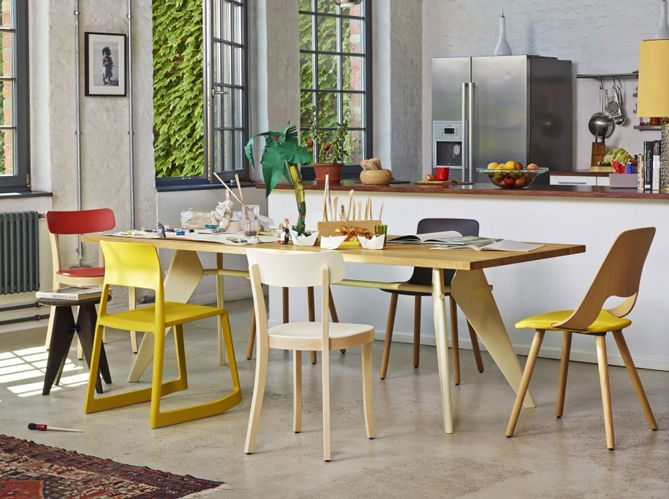 1000 id es propos de chaises d pareill es sur pinterest for Salle a manger jaune moutarde