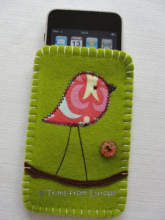 Taller de fieltro: funda de fieltro para el teléfono móvil | Aprender manualidades es facilisimo.com
