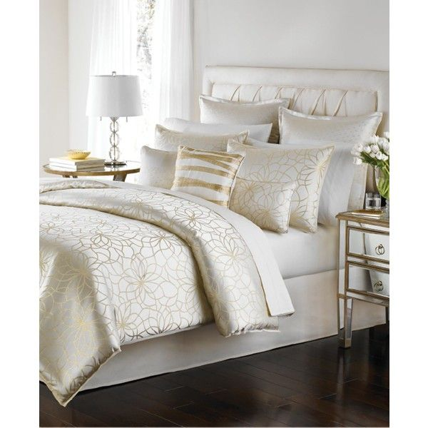 Martha Stewart Collection Radiant Day 9-Pc King Comforter Set ($360) ❤ liked on Polyvore featuring home, bed & bath, bedding, comforters, gold, king size comforter set, martha stewart comforters, gold king comforter set, martha stewart and king comforter