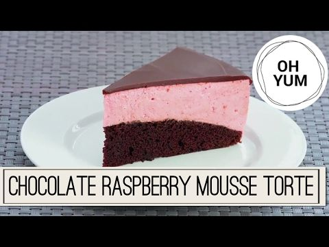 (1) Chocolate Raspberry Mousse Torte   Oh Yum with Anna Olson - YouTube