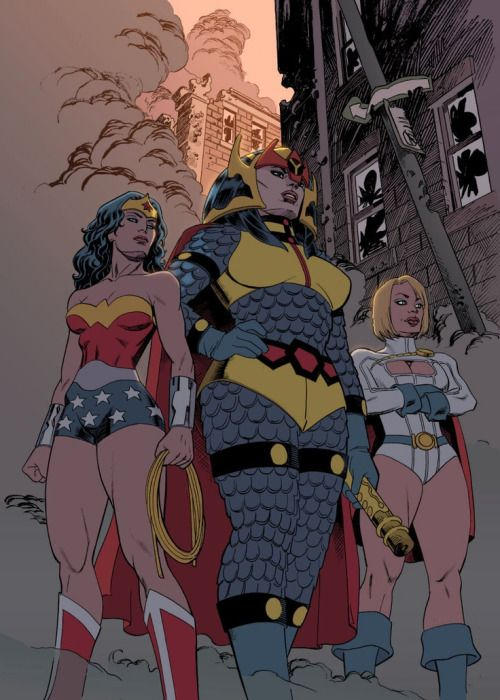 Wonder Woman, Big Barda & Power Girl - Mike Hawthorne