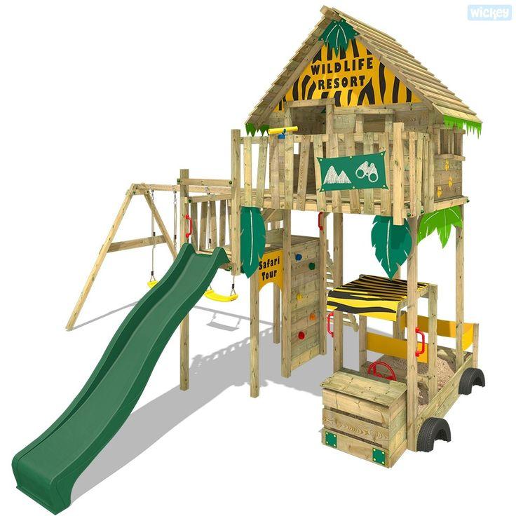 Palafitta Wickey Smart Explore con scivolo e altalena. Scopri le nostre giochi da giardino e casette da gioco di alta qualità nel negozio Wickey!