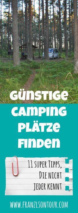 Günstige Campingplätze finden – 11 Tipps, die nicht jeder kennt