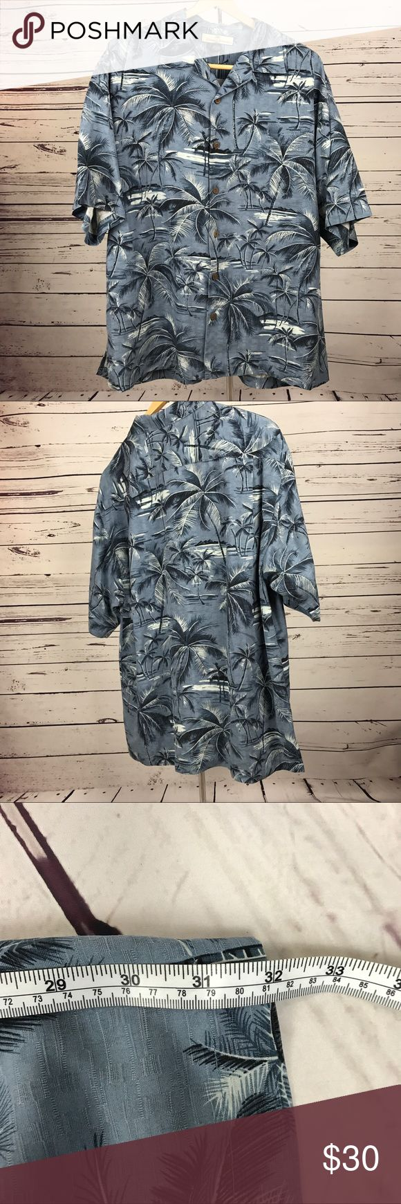 Tommy Bahama men's silk shirt LG Handsome and in perfect condition this Tommy Bahama shirt is the perfect slim shirt for lounging while classy. Tommy Bahama Shirts Casual Button Down Shirts