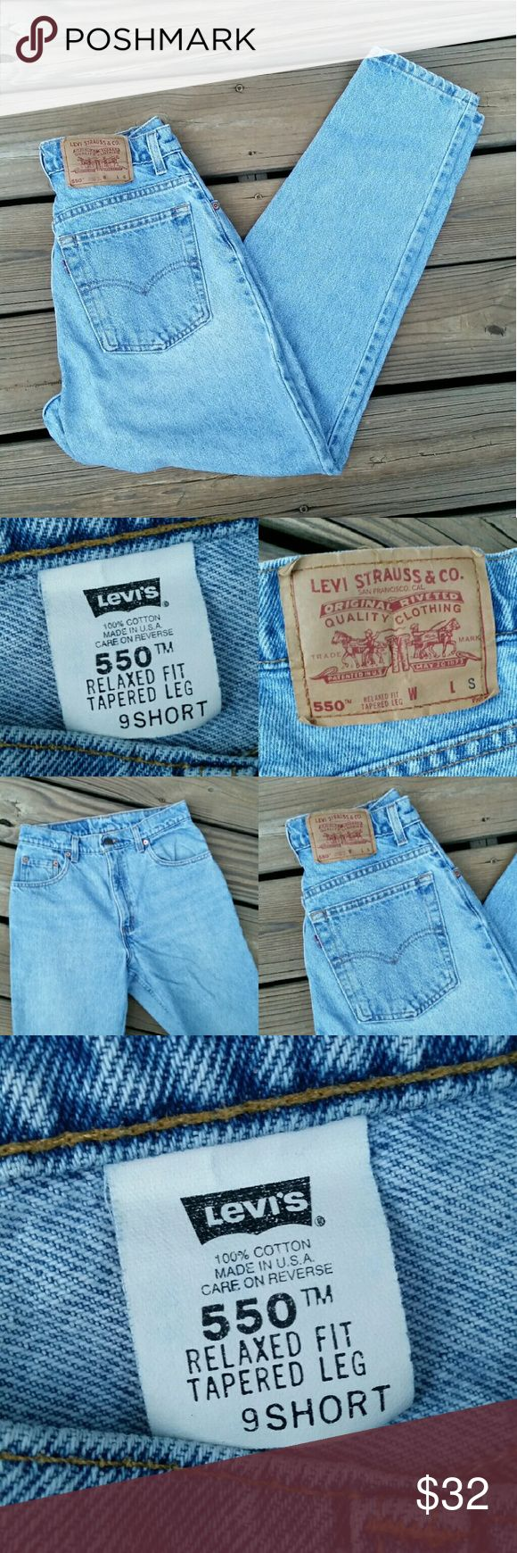 "Vintage LEVI'S 550 ""Mom"" Jeans Perfect fall jeans! Vintage Levi 550 relaxed fit, tapered legs, ""mom"" jeans. 100% cotton. These are labeled size 9 short, but these are true vintage and constructed differently than today's jeans. 25"" waist. 12"" rise. 37"" hips. 29"" inseam. Levi's Jeans"