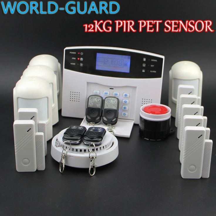 (111.60$)  Buy here  - English Russian Spanish French Voice Wireless GSM Alarm system Home security Alarm systems with LCD Keyboard pet Sensor alarm