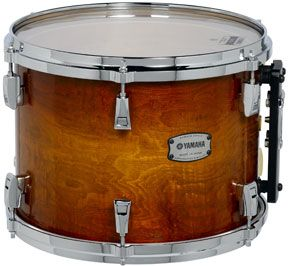 "Image of Yamaha PHX Phoenix Series Ash 24""x18"" Textured Amber Sunburst Bass Drum w/ Chrome Hardware"