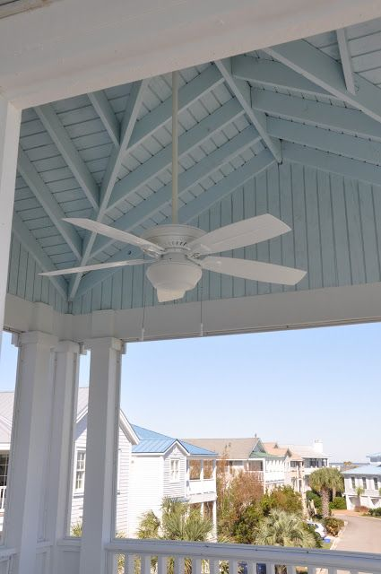 Jane Coslick Cottages : Slipcovers, Starfish, Surf boards And Wooden Painted Ceilings
