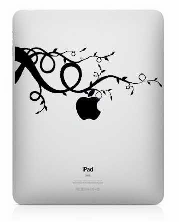 Stamp your personality on your IPAD and make it stand out with this vinyl decal of a tree with the apple growing off it.