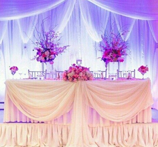 Table des mariés simple et jolie