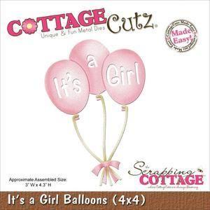 Wykrojnik CottageCutz - Balony dla dziewczynki Its A Girl