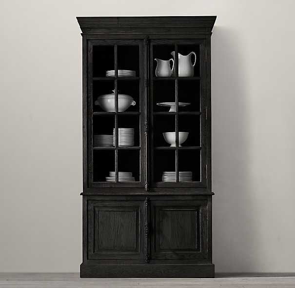 Decorating With Touches Of Black Dining Room HutchDining RoomsRestoration HardwareChina