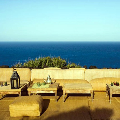 Outdoor Living Room With Comfortable Sofa  Giorgio Armaniu0027s Holiday Home