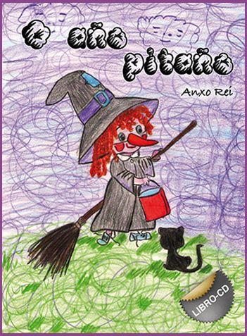 """""""O AÑO PITAÑO"""" conten doce poemas de 6 poetas  contemporáneos e un CD con 12 cancións"""