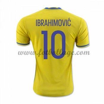 Sverige Landslagströja 2016 Ibrahimovic 10 Hemma Tröjor