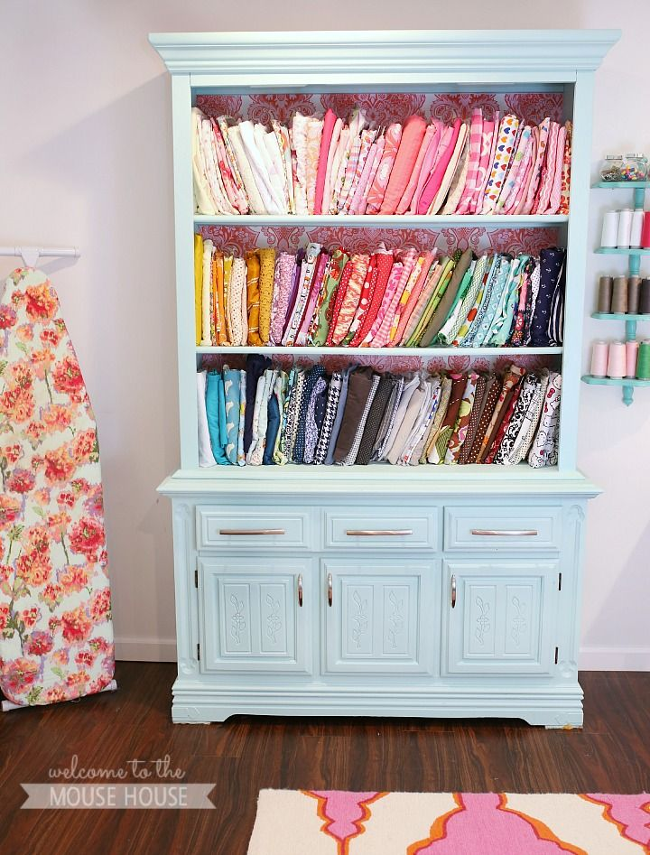 22 best images about quilting studio ideas on pinterest for Fabric storage