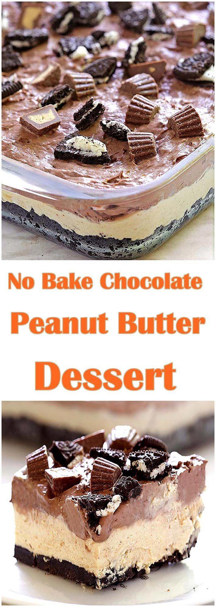No Bake Chocolate Peanut Butter Dessert – a cool…