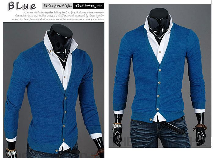 Blue Cardigan Sweaters for Men | mens cardigan sweaters shirts front button wool cardigans for men xs s ...