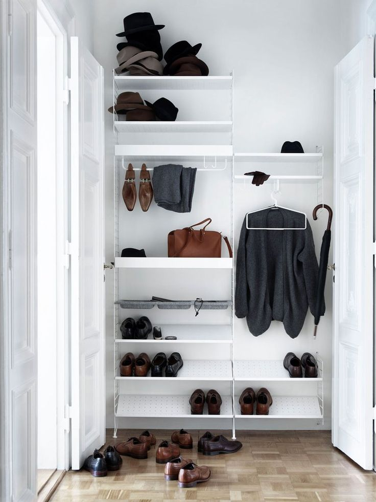 News from String this 2017, String shelving system white, new accesories, entrance, closet, wardrobe