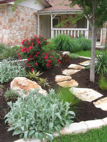 31 best images about landscaping on pinterest fire pits for Stone garden ideas pictures