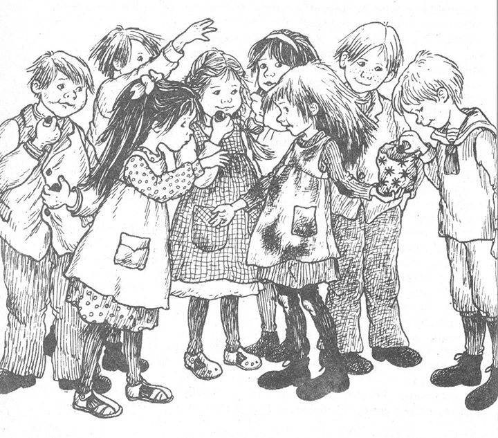 Illustration by Ilon Wikland to Madicken, by Astrid Lindgren