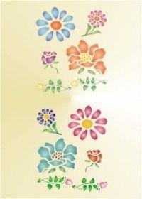 Free Printable Flowers Stencil