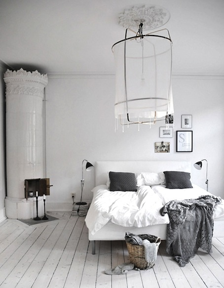 scandinavian fireplace and love the light treatment