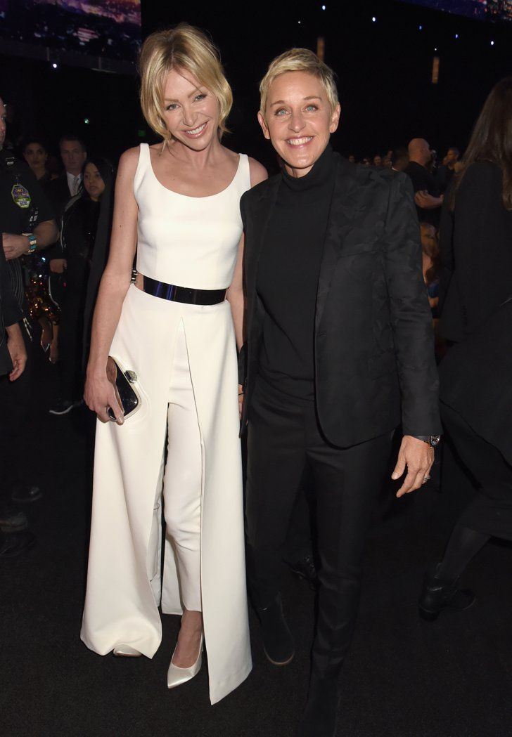 Pin for Later: These Celebrity Couples Couldn't Keep Their Hands Off of Each Other at the PCAs Portia de Rossi and Ellen DeGeneres