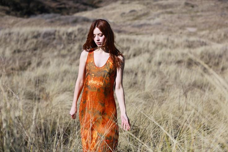 SS13 Barque Maxi Dress  #naturelust #eco #fashion #art #ss13 #prints  www.sara-c.com