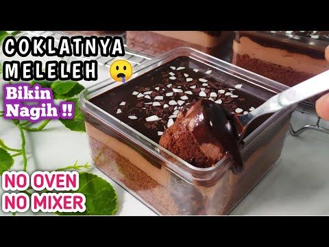 Dessert Box Super Nyoklat Tanpa Mixer Dan Oven Youtube Dessert Boxes Food Drinks Dessert Yummy Food Dessert