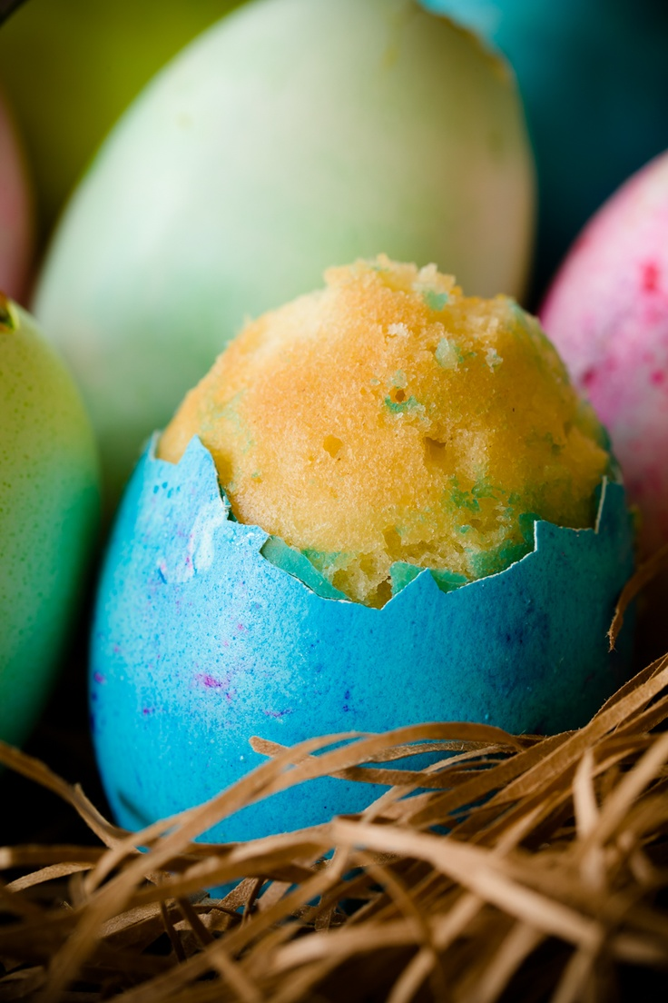 """Cupcakes IN real eggs! Easter Egg Cupcakes with """"Yolk"""" Centers ~ Cupcake Project"""