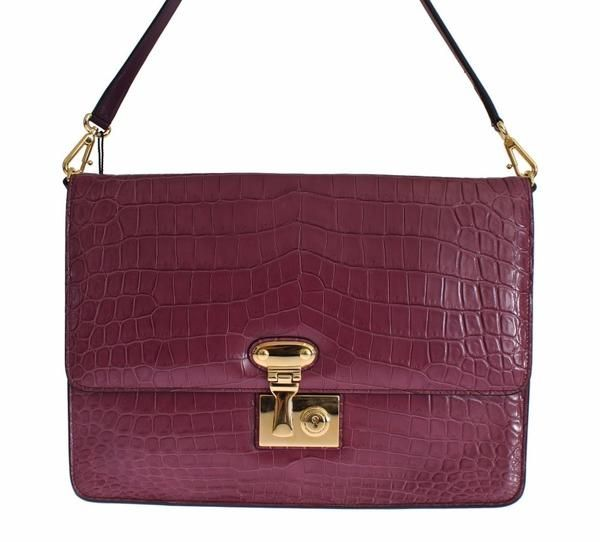 Purple MISS LINDA Crocodile Shoulder Dolce & Gabbana €4,958.00